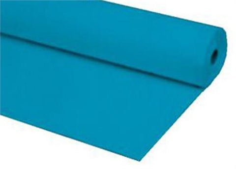 Turquoise Plastic Table Cover 40 x 100 ft