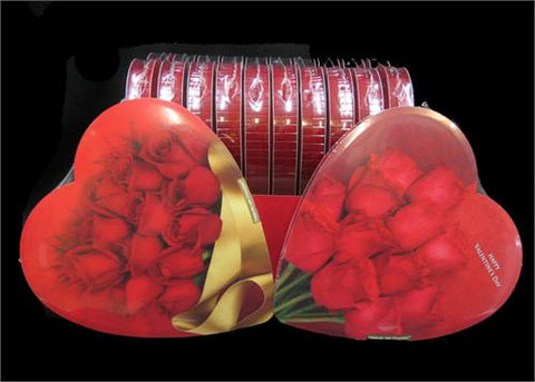 Elmer Valentines Chocolate 6.8oz Heart Shaped Box 12 Roses Assorted (12 boxes)