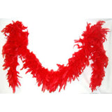 6' Feather Boa Red
