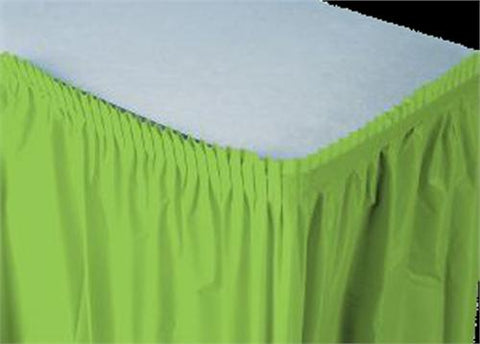 Apple Green Plastic Table Skirt (1 Piece)