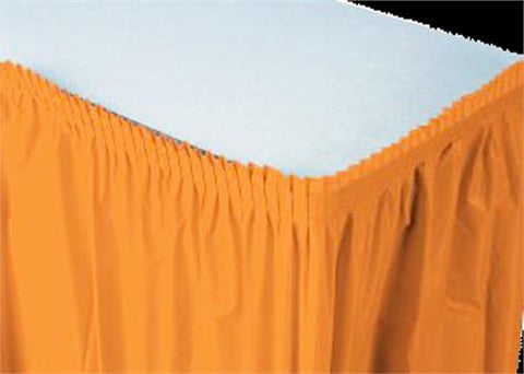 Orange Plastic Table Skirt (1 Piece)