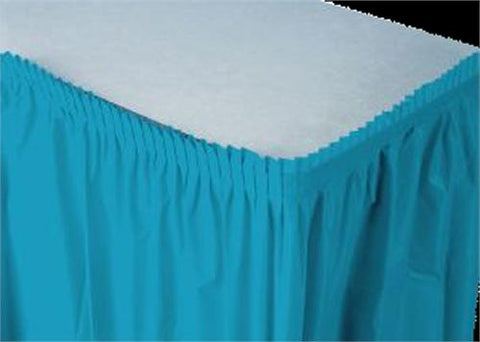 Turquoise Plastic Table Skirt (1 Piece)