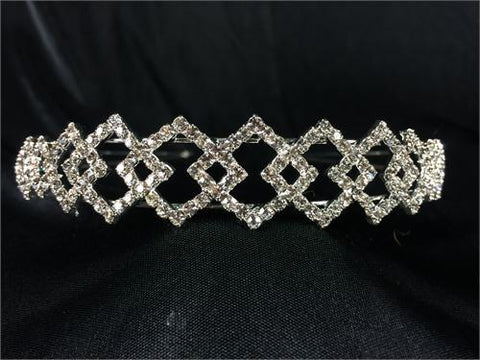 Square Style Crystal Headband (1 Piece)