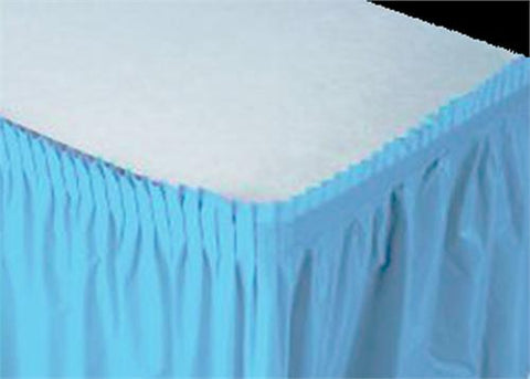 Blue Plastic Table Skirt (1 Piece)