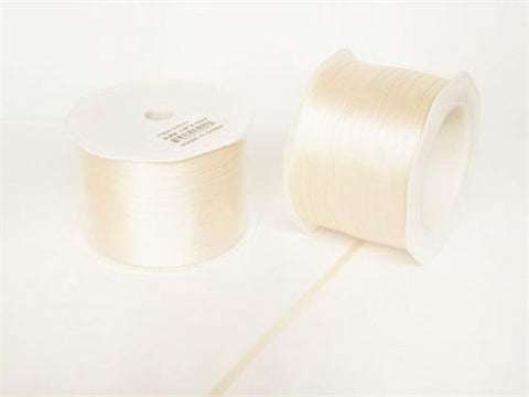 "1/8"" Ivory Doubleface Satin Ribbon 100 Yards"