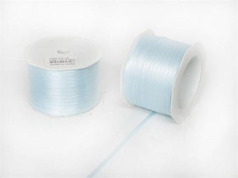 "1/8"" Light Blue Doubleface Satin Ribbon 100 Yards"