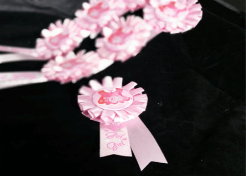 It's a Girl Award Ribbon (12 pieces)