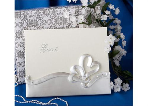 Interlocking Hearts desgin Guest Book