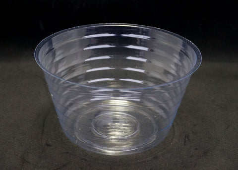 3.25 Inch Deep 6 Inch Diameter Clear Plastic Liner (10 Pieces)