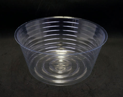 3.5 Inch Deep 8 Inch Diameter Clear Plastic Liner #4 (10 Pieces)