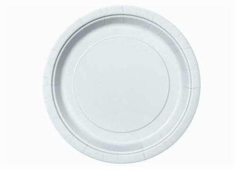 "White Plastic Plates 9 "" ( 8 Pieces )"
