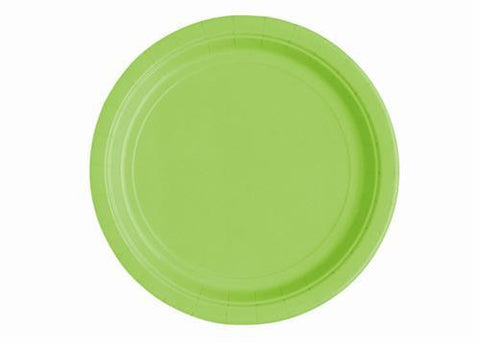 "7"" Lime Green Paper Plates(20 Pieces)"