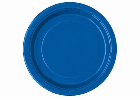 "7"" Royal Blue Paper Plates(20 Pieces)"