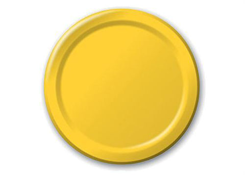 "Yellow Plastic Plates 7"" ( 12 pieces)"