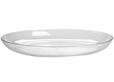 "15"" Designer Dish Plastic Clear (6 pieces)"