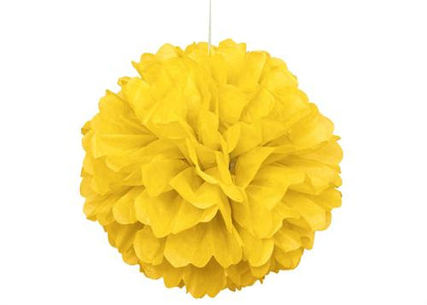16'' Puff Tissue Paper Balls - SUN YELLOW 1 Piece