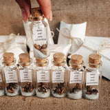 "3"" Slender Glass Bottles with Corks (12 Pieces)"
