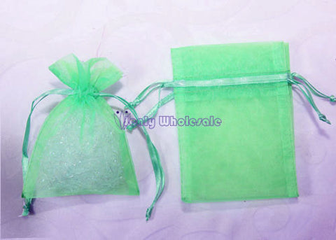 3 X 4 Mint Organza Bags (24 Pieces)