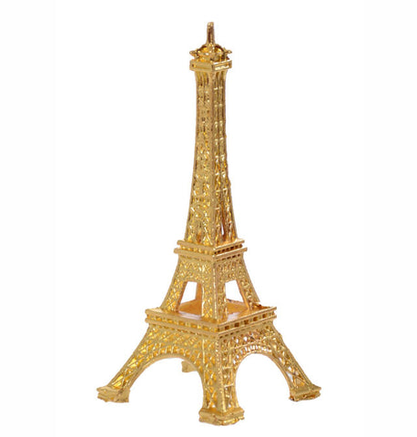3'' Gold Mini Metal Eiffel Tower Card Holder Party Favor with Gift Box- 12 pcs
