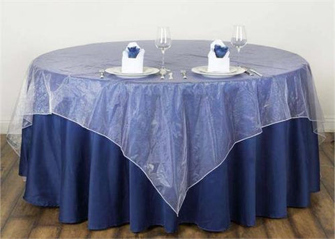White Organza Table Overlay 80 X 80 Square(1 Piece)