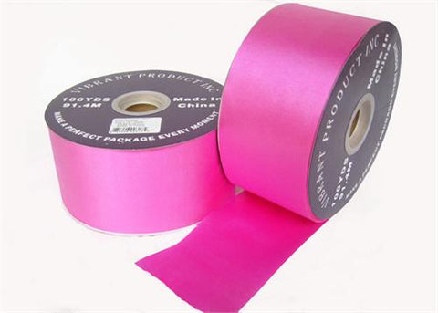 "#40 Fuchsia Flora Satin Ribbon 2.75"" X 100 yards(1 Roll)"