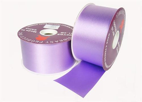 "#40 Lavender Flora Satin Ribbon 2.75"" X 100 yards(1 Roll)"
