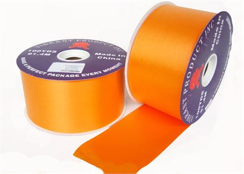 "#40 Orange Flora Satin Ribbon 2.75"" X 100 yards(1 Roll)"
