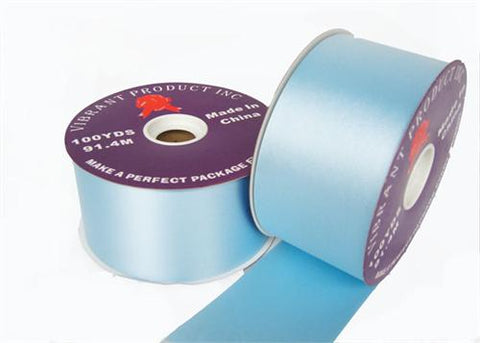 "#40 Pastel Blue Flora Satin Ribbon 2.75"" X 100 yards(1 Roll)"