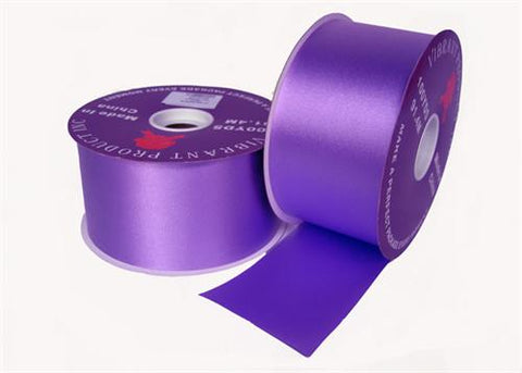 "#40 Purple Flora Satin Ribbon 2.75"" X 100 Yards (1 Roll)"
