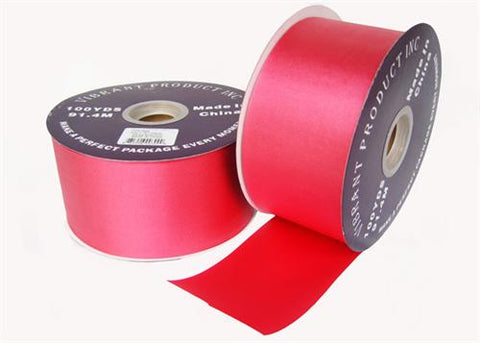 "#40 Red Flora Satin Ribbon 2.75"" X 100 Yards(1 Roll)"