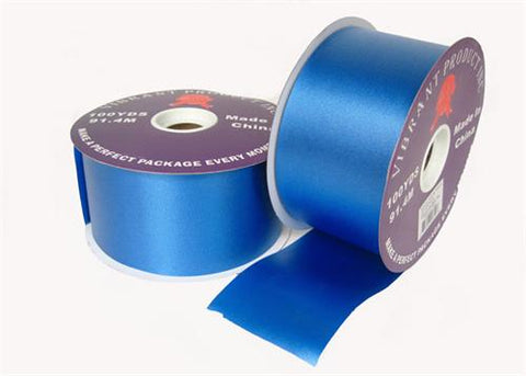 "#40 Royal Blue Flora Satin Ribbon 2.75"" X 100 Yards(1 Roll)"