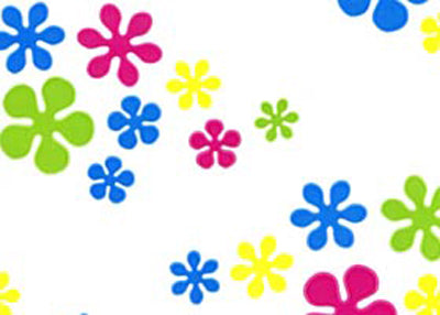 "40"" x 100 Ft Flower Power Printed Cellophane Paper (1 Roll)"