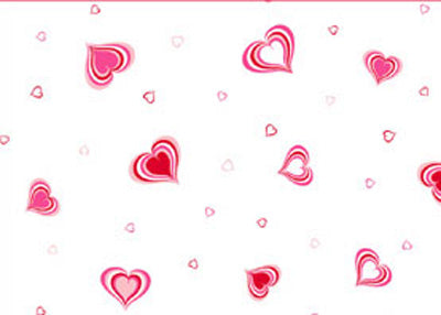"40"" x 100 Ft Groovy Love Valentines Printed Cellophane Paper (1 Roll)"