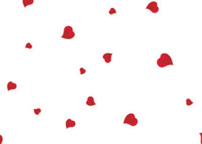 "40"" x 100 Ft Hearts A Flutter Valentines Printed Cellophane Paper (1 Roll)"