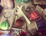 Macaron Design key Chain Favors four colors assorted (12 Pieces)