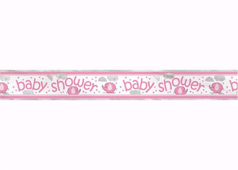 Foil Baby Shower Banner with Elephant - Girl(1 Piece)