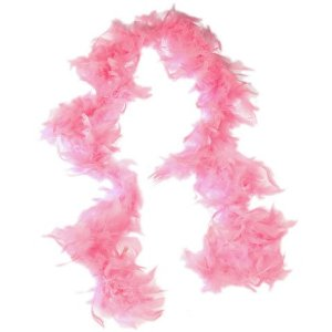 6' Feather Boa Pink