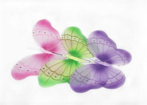 "24"" Extra Large Assorted Nylon Butterfly Decoration (6 Pieces)"