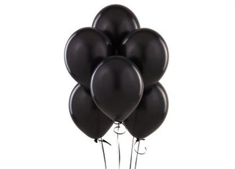 "12"" Black Balloon (72 Pieces)"