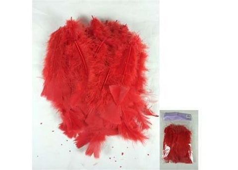 4 to 6 Inches Red Feather ( 75-100 Pieces)