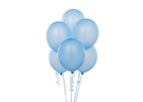 "12"" Pearl Tone Blue Balloon (72 Pieces)"
