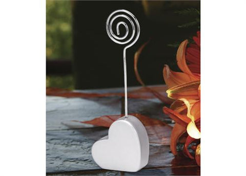 Heart Shape Place Card Holder (12 Pieces)