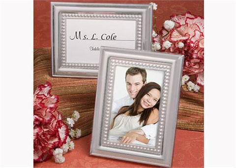 Beaded Design Metal Place Card or Photo Frame Sliver (12 Pieces)