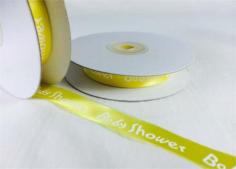 "5/8"" Yellow Satin Baby Shower Ribbon(25 Yards)"