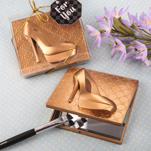 Gold High Heel Design Mirror Party Favors(12 Pieces)