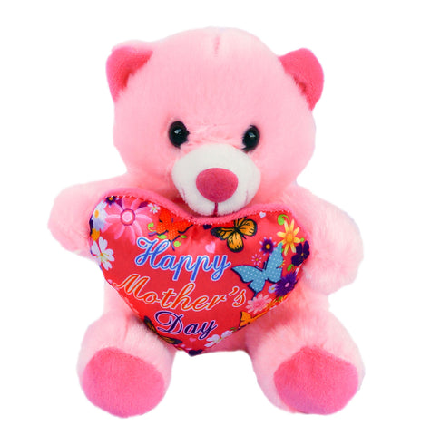 "6"" Pink Teddy Bear with ""Happy Mother's Day"" Heart (12 Pieces)"