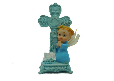 6.5 Inch Praying Angel Figurine Baptism & Communion Party Favors Decoration Boy (12 Pieces)