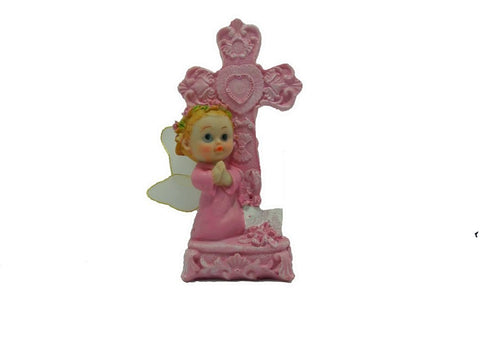 6.5 Inch Praying Angel Figurine Baptism & Communion Party Favors Decoration Girl (12 Pieces)
