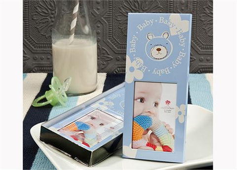 Baby Shower Teddy Bear Picture Frame boy (12 Pieces)