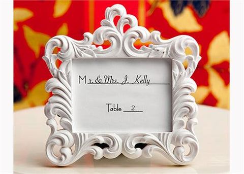 Baroque Style Picture Frame White (12 Pieces)